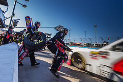 November 10, 2018 - Phoenix, Arizona, U.S. - The pit crew for driver John H. Nemechek of the #42 Fire Alarm Services Inc., Chevrolet during the NASCAR Xfinity Whelen Trusted to Perform 200 at ISM Raceway in Phoenix, Arizona. (Credit Image: © Doug James/ZUMA Wire)