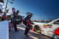November 10, 2018 - Phoenix, Arizona, U.S. - The pit crew for driver John H. Nemechek of the #42 Fire Alarm Services Inc., Chevrolet during the NASCAR Xfinity Whelen Trusted to Perform 200 at ISM Raceway in Phoenix, Arizona. (Credit Image: © Doug James/ZUMA Wire)