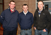 Padhraic Dilleen, Stephan Keary and Pat Walsh from Arrabawn Mountbellew at the Sheep Seminar at the Teagasc Liam Mellows campus Athenry.Picture:Andrew Downes