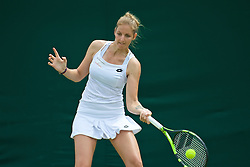 LONDON, ENGLAND - Tuesday, June 28, 2016: Kristyna Pilskovia (CZE) during the Ladies' Singles 1st Round match on day two of the Wimbledon Lawn Tennis Championships at the All England Lawn Tennis and Croquet Club. (Pic by Kirsten Holst/Propaganda)