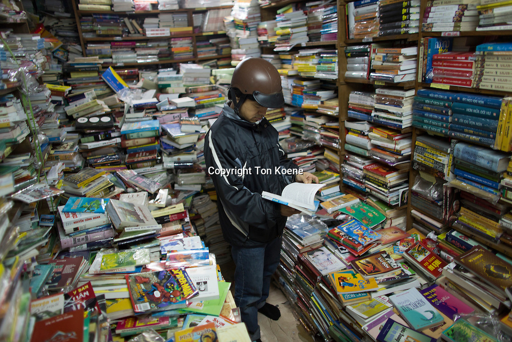 second hand bookstore in hanoi, Vietnam