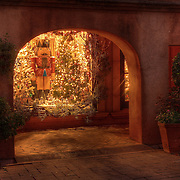 A Christmas shop window display in Tlaquepaque, Sedona, AZ