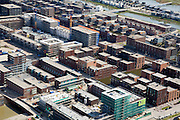 Nederland, Noord-Holland, Amsterdam, 16-04-2008;bouwblokken in nieuwe woonwijk op het Haveneiland van IJburg, ..luchtfoto (toeslag); aerial photo (additional fee required); .foto Siebe Swart / photo Siebe Swart