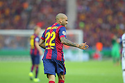 Barcelona Daniel Alves during the Champions League Final between Juventus FC and FC Barcelona at the Olympiastadion, Berlin, Germany on 6 June 2015. Photo by Phil Duncan.