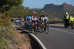 Cecilie Uttrup Ludwig (DEN) and Ashleigh Moolmann-Pasio (RSA) lead the front group up on the main climb of Stage 2 of the Setmana Ciclista Valenciana - a 115 km road race, between Castello and Vila-Real on February 23, 2018, in Valencia, Spain. (Photo by Balint Hamvas/Velofocus.com)