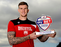 Aden Flint of Bristol City wins Sky Bet Championship player of the month for February  - Mandatory byline: Joe Meredith/JMP - 10/03/2016 - FOOTBALL - Ashton Gate - Bristol, England - Lee Johnson
