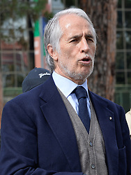 March 12, 2018 - Rome, Italy - The president of the Italian Olympic Committee (CONI), Giovanni Malago arrivers for the ceremony Walk of Fame in Rome, Italy, on 12 March 2018. The Walk of Fame is enriched with 5 more samples. Along the Via Olimpiadi, which leads straight to the Olympic stadium in Rome, new plates have been added dedicated to five blue champions no longer in business: the historic Milan captain and national defender, Paolo Maldini, the swimmer Massimiliano Rosolino, the middle distance runner Luigi Beccali, the cyclist Ercole Baldini and the volleyball player Samuele Papi. (Credit Image: © Silvia Lore/NurPhoto via ZUMA Press)