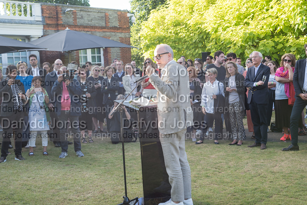 HANS ULRICH OBRIST, , Opening of Christo and Jeanne-Claude: ,Barrels and the Mastaba 1958 - 2018, London, 21 June 2018