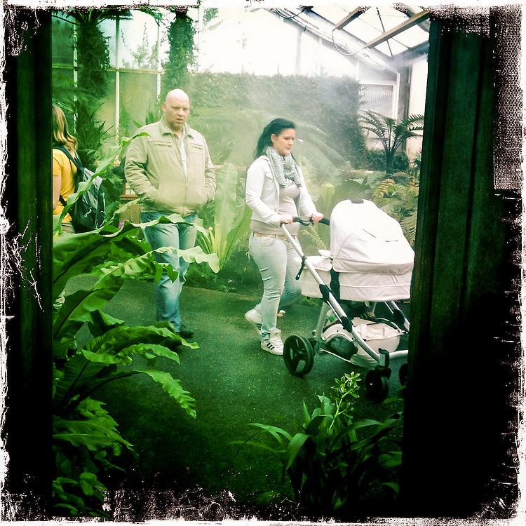 "Germany - BERLIN - iPhone Hipstamatic DIARY; HERE: Berlin-Marzahn; gardens of the world ; ""Bali""; Neonazi; 18.03.2012; © Christian Jungeblodt"