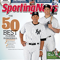 Sporting News cover of NY Yankees Alex Rodriguez and Mark Texiera.<br />