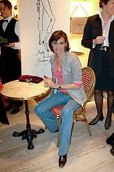 INES DE LA FRESSANGE at a party to celebrate the publication of 'Parisian Chic: A Style guide' by Ines de La Fressange held at Roger Vivier, Sloane Street, London on 5th Apreil 2011.