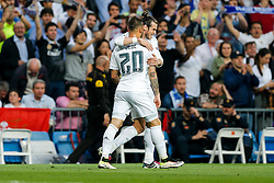 Gareth Bale of Real Madrid celebrates scoring a goal to make it 1-0 - Mandatory byline: Rogan Thomson/JMP - 04/05/2016 - FOOTBALL - Santiago Bernabeu Stadium - Madrid, Spain - Real Madrid v Manchester City - UEFA Champions League Semi Finals: Second Leg.