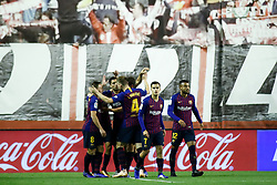 November 3, 2018 - Madrid, MADRID, SPAIN - Luis Suarez of FC Barcelona celebrates the goal during the Spanish Championship, La Liga, football match between Rayo Vallecano and FC Barcelona on November 03th, 2018 at Estadio de Vallecas in Madrid, Spain. (Credit Image: © AFP7 via ZUMA Wire)