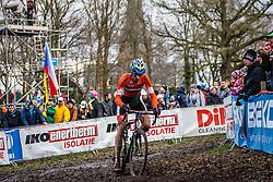 Thijs VAN AMERONGEN (28,NED), 7th lap at Men UCI CX World Championships - Hoogerheide, The Netherlands - 2nd February 2014 - Photo by Pim Nijland / Peloton Photos