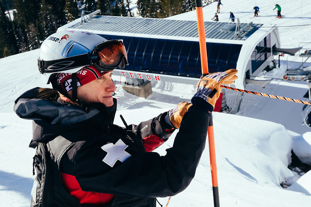 Jen Calder working on daily operations at Jackson Hole Mountain Resort.
