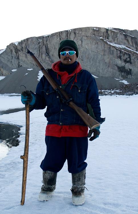 Sasa Samson 37 is the beast Inuit hunter of the Inuit town of Resolute bay Tuesday June 12 2007....His hunts seals for food, every part of the seals is used or for food or for worm cloth. ....