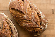 Bread loaves made with local wheat from the Skagit Valley, WA.