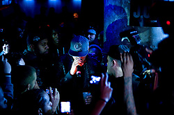 Mar 30, 2010 : Manhattan, NY :.American rapper J Cole enters for his performance at nightclub SOBs.