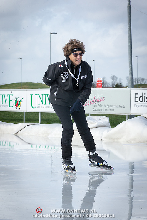 NLD/Biddinghuizen//20170305 - De Hollandse 100 - Stichting Lymph & Co 2017, Prinses Margriet op de schaats