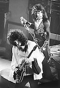 PICTURE BY HOWARD BARLOW..ARTIST -  QUEEN.VENUE   -  MANCHESTER PALACE .DATE    -  30 OCTOBER 1974