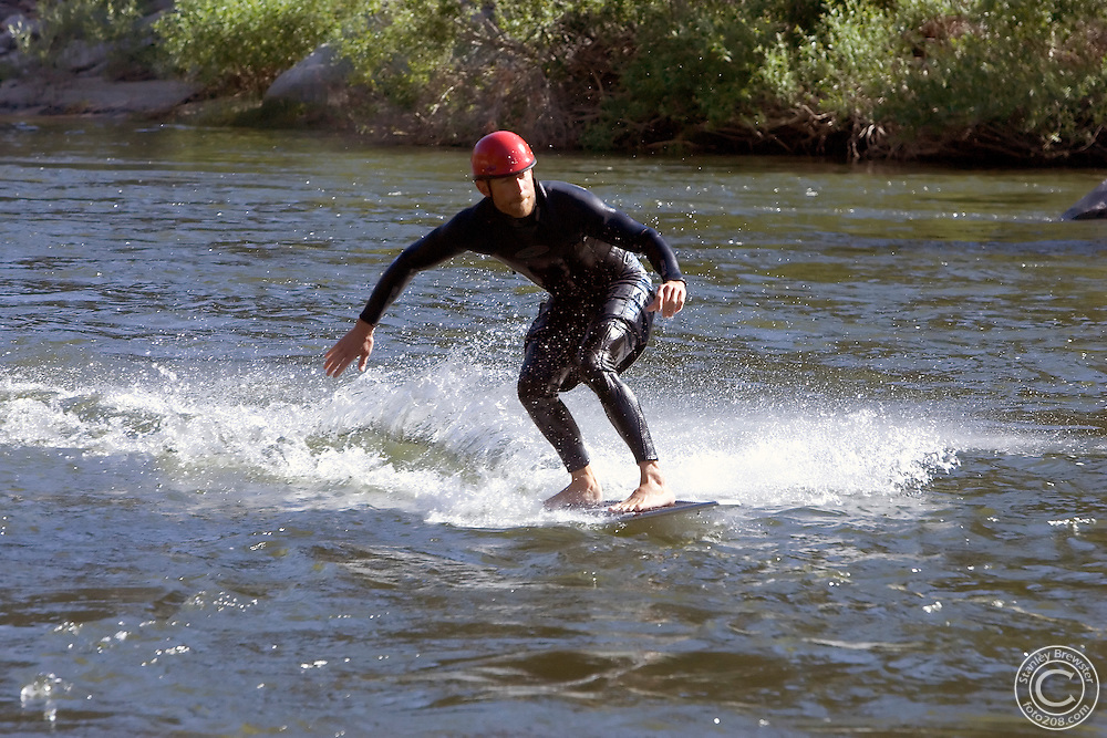 7-09-06 Horseshoe Bend, Idaho. Photos of the free public demonstration put on by Banshee River Boards. The demonstration  was held on the Payette River just above Horseshoe Bend.