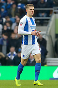 Brighton and Hove Albion striker Viktor Gyokeres (42) comes on as a substitute during the The FA Cup 5th round match between Brighton and Hove Albion and Derby County at the American Express Community Stadium, Brighton and Hove, England on 16 February 2019.