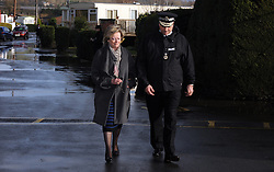 "© Licensed to London News Pictures. 27/05/2014<br /> Ann Barnes Kent Police Crime Commissioner with <br /> Kent Police Chief Constable Alan Pughsley who has been in the role as Chief Constable since January 4th 2014.<br /> Police and Crime Commissioner for Kent Police, Ann Barnes pictured in Yalding, Kent , (06.01.2014) During the Yalding Floods.<br />  Ann Barnes will appear in a controversial fly-on-the-wall documentary <br /> called ""Meet the Police Commissioner"" on Channel 4 on Thursday 29th May at 9pm. <br /> Photo credit :Grant Falvey/LNP"