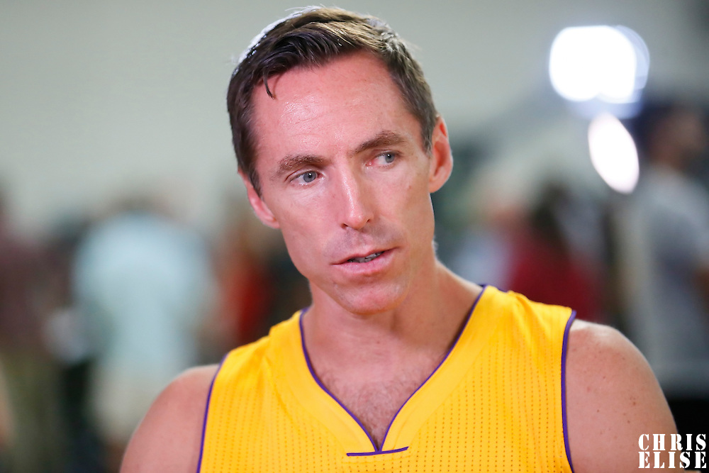 29 September 2014: Steve Nash is seen during the Los Angeles Lakers Media Day, at Toyota Sports Center, El Segundo, California, USA.