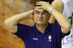 Coach of Slovenian team Zeljko Ciglar at basketball qualification match of women division B  between National teams of Slovenia and Netherlands, on August 27, 2008, in Vitranc Hall, Kranjska Gora. Win of NED 83:81. (Photo by Vid Ponikvar / Sportida)