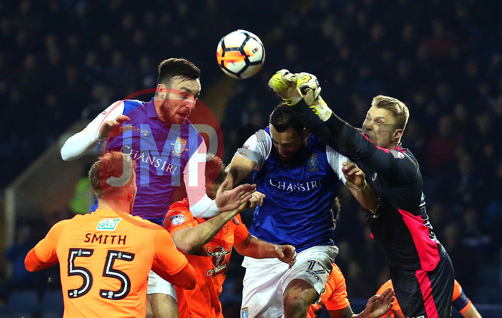 Anssi Jaakkola of Reading punches the ball clear - Mandatory by-line: Robbie Stephenson/JMP - 26/01/2018 - FOOTBALL - Hillsborough - Sheffield, England - Sheffield Wednesday v Reading - Emirates FA Cup fourth round proper