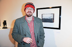 DARREN EDWARDS at a private view of 'Life Vividly Lived Part 1' an exhibition of works inspired by Inishturkbeg, an island off the west coast of Ireland held at Flowers, 21 Cork Street, London on 9th February 2010.