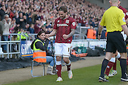 Northampton Town Striker Ricky Holmes celebrates the opening goal during the Sky Bet League 2 match between Northampton Town and Notts County at Sixfields Stadium, Northampton, England on 2 April 2016. Photo by Dennis Goodwin.