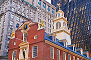 The Old State House on the Freedom Trail, Boston, Massachusetts USA