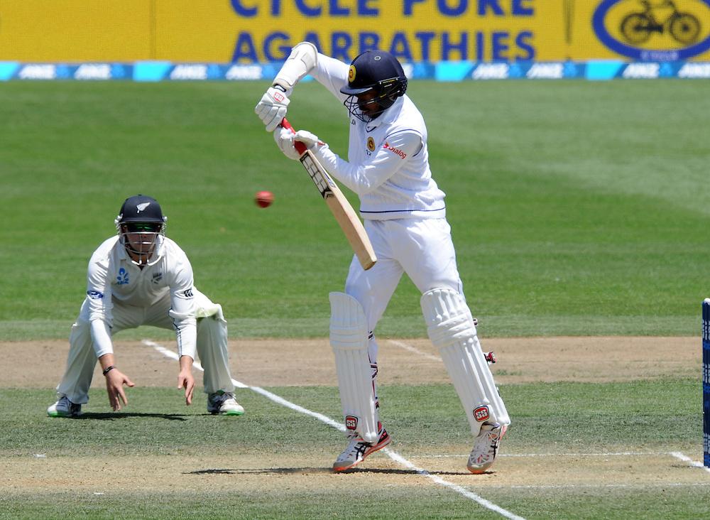 Sri Lanka's Milinda Siriwardana batting against New Zealand on day three of the second International Cricket Test, Seddon Park, Hamilton, New Zealand, Sunday, December 20, 2015.Credit:SNPA / Ross Setford
