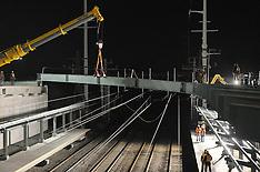 Bridge Pick over Tracks | Night Construction | Fairfield Railroad Station @ Metro Center