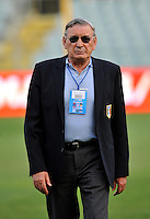 "Uefa Euro 2012 Poland Qualifing Matchs / Group C / <br /> Italy vs Far Oer Island 5-0  ( Artemio Franchi Stadium - Firenze , Italy )<br /> Luigi Riva "" Gigi Riva "" , Team Manager of Italian Team A , <br /> Former Player of Italian National Team and Cagliari Calcio"
