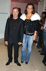 JACQUES AZAGURY and ELLA KRASNER at a cocktail party hosted by MAC cosmetics to kick off London Fashion Week at The Hospital, 22 Endell Street London on 18th September 2005.At the event, top model Linda Evangelista presented Ken Livingston the Lord Mayor of London with a cheque for £100,000 in aid of the Loomba Trust that aims to privide education to orphaned children through a natural disaster or through HIV/AIDS.<br />