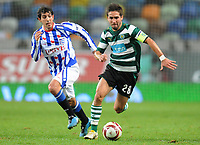 20091103: LISBON, PORTUGAL - Sporting Lisbon vs Heerenveen: Europa League 2009/2010 - Group Stage. In picture: Joao Moutinho. PHOTO: Alexandre Pona/CITYFILES