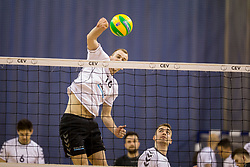 Luka Lazar of Calcit Volley during 1st Leg volleyball match between ACH Volley and OK Calcit Volley in Final of 1. DOL Slovenian National Championship 2017/18, on April 17, 2018 in Hala Tivoli, Ljubljana, Slovenia. Photo by Urban Urbanc / Sportida