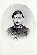 studio portrait young boy late 1800s