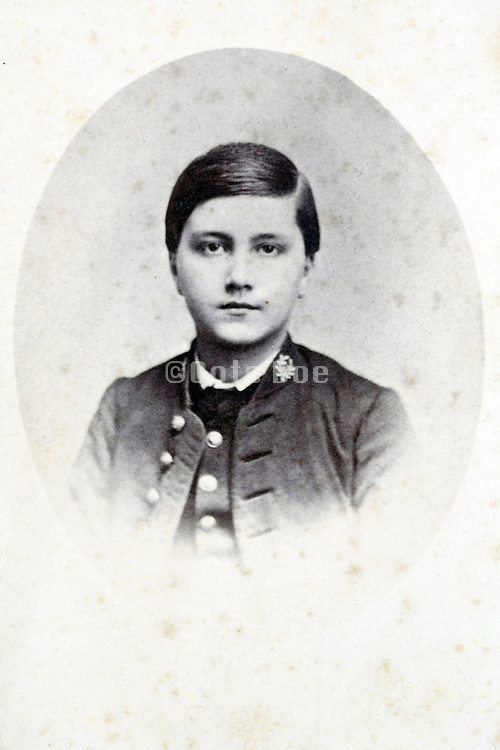 studio portrait young boy late 1800s