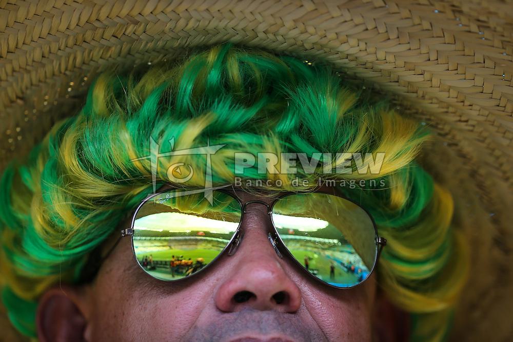 Torcida do Brasil na partida entre Brasil x México, válida pela segunda rodada do grupo A da Copa do Mundo 2014. FOTO: Jefferson Bernardes/ Agência Preview