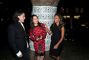 "ADAM WAYMOUTH; YI ZHOU; ; RACHEL BARRETT;  , Video artist Yi Zhou  first solo show ""I am your Simulacrum"".Exhibition opening at 20 Hoxton Square Projects. Hoxton Sq. London. 1 September 2010.  -DO NOT ARCHIVE-© Copyright Photograph by Dafydd Jones. 248 Clapham Rd. London SW9 0PZ. Tel 0207 820 0771. www.dafjones.com."