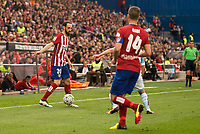 Atletico de Madrid's Juanfran and Gabi during La Liga Match at Vicente Calderon Stadium in Madrid. May 14, 2016. (ALTERPHOTOS/BorjaB.Hojas)