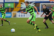 Forest Green Rovers Darren Carter(12) runs forward during the Vanarama National League match between Macclesfield Town and Forest Green Rovers at Moss Rose, Macclesfield, United Kingdom on 12 November 2016. Photo by Shane Healey.