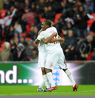 England U21/Portugal U21 European Under 21 Championship 14.11.09 <br /> Photo: Tim Parker Fotosports International<br /> Danny Rose England U21 celebrates 1st goal