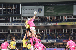 October 28, 2017 - Clermont-Ferrand - Stade Marcel, France - Alexandre Lapandry (asm) vs Charlie Francoz  (Credit Image: © Panoramic via ZUMA Press)