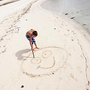 Happy beach, happy child concept photography.