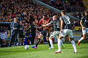 Kelvin Mellor of Bradford City challenged by Nicholas Adams of Northampton Town during the EFL Sky Bet League 2 match between Bradford City and Northampton Town at the Utilita Energy Stadium, Bradford, England on 7 September 2019.