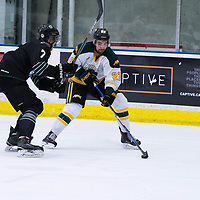 4th year forward Colton Sparrow (22) of the Regina Cougars in action during the Men's Hockey Home Opener on October 6 at Co-operators arena. Credit: Arthur Ward/Arthur Images